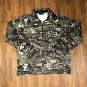 🦌 NWT Under Armour Hunting Camo Half Zip Pullover